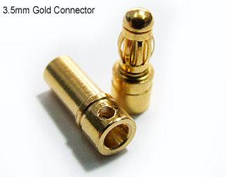 Plug Ou Conector Gold Bullet 3,5mm (3 Pares Macho E Fêmea) (2)